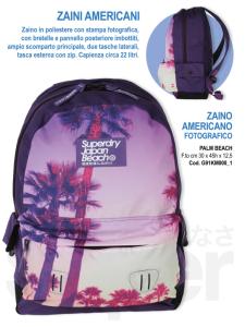 zaino scuola americano fotografico palm beach superdry