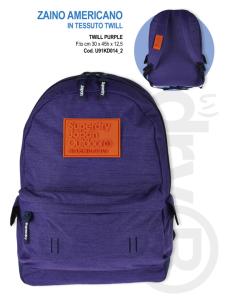 zaino scuola americano twill purple superdry