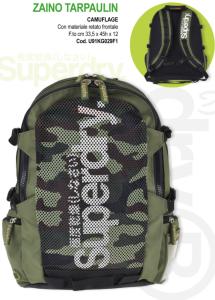 zaino tarpaulin camouflage superdry