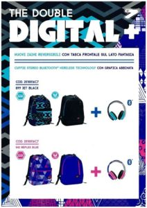Digital Double Reversibile Seven blu fuxia