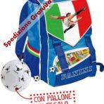 Zaino Scuola Estensibile Franco Panini Calciatori con Pallone Omaggio Originale