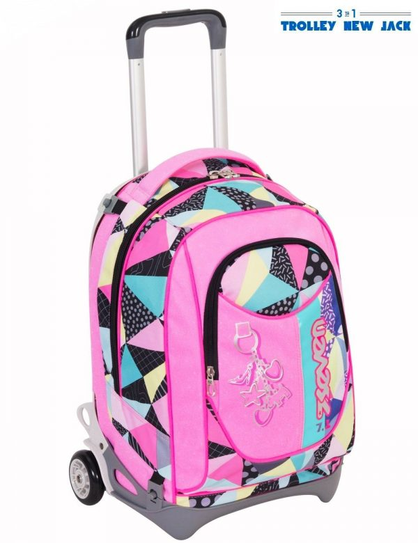 Trolley Seven New Jack Fancy Girl- Rosa Nero - Sganciabile e Lavabile