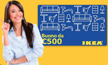Buono Spesa: vinci Coupon da 500 EUR per l' IKEA