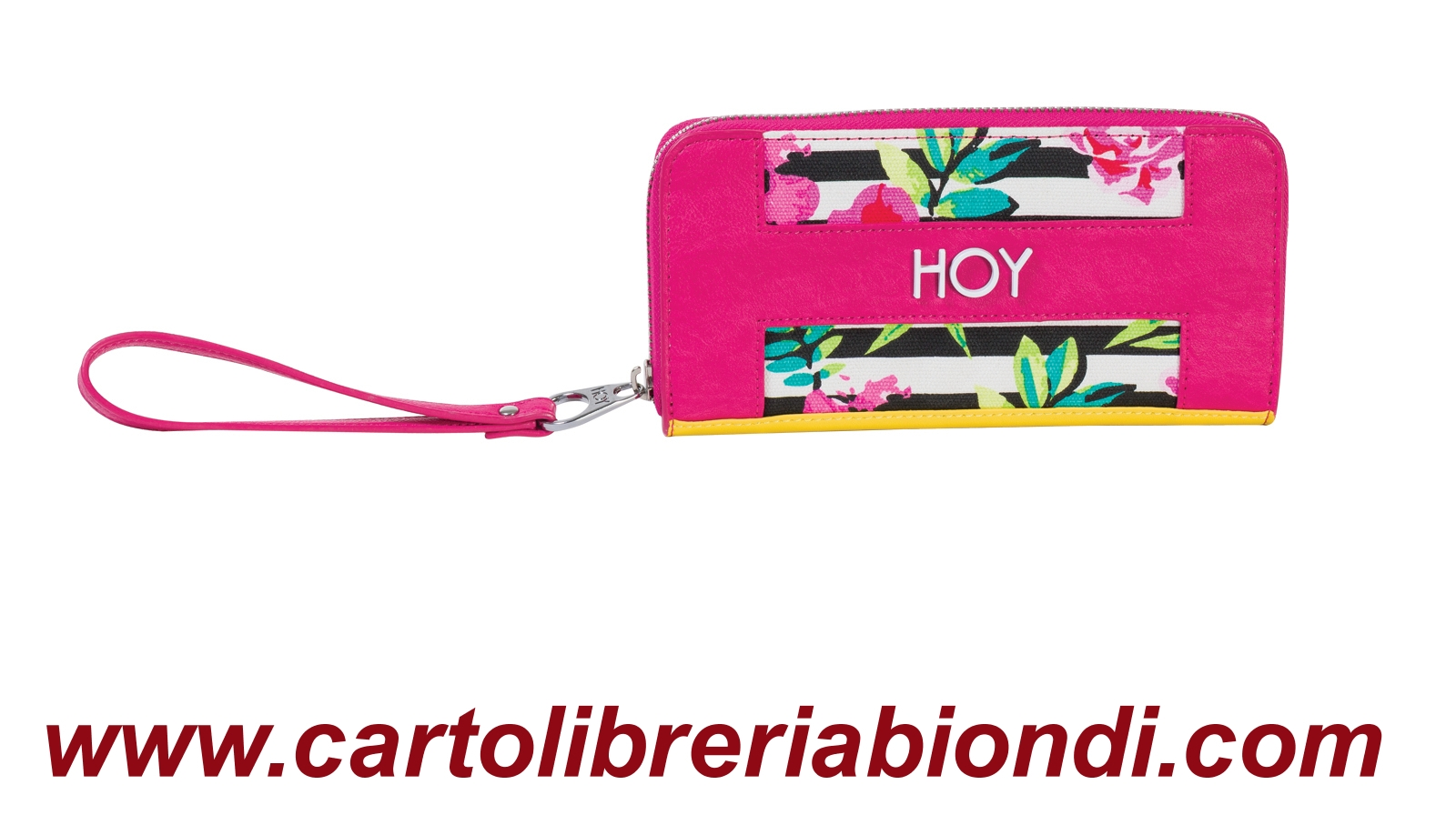 HOY Flowers Hello Zip Wallet