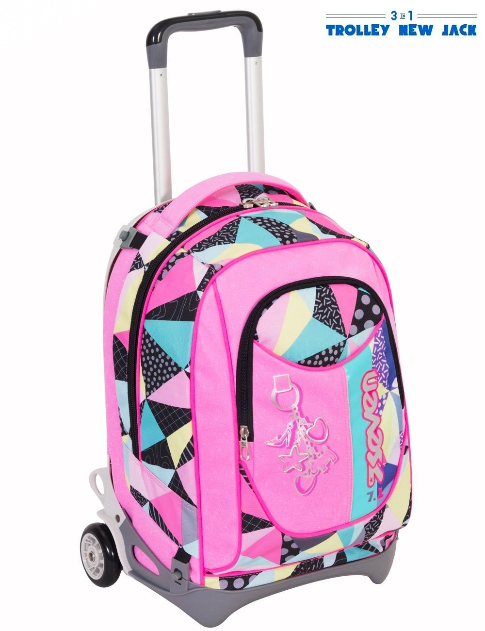 9b9433b773 Trolley Seven New Jack Fancy Girl- Rosa Nero – Sganciabile e Lavabile